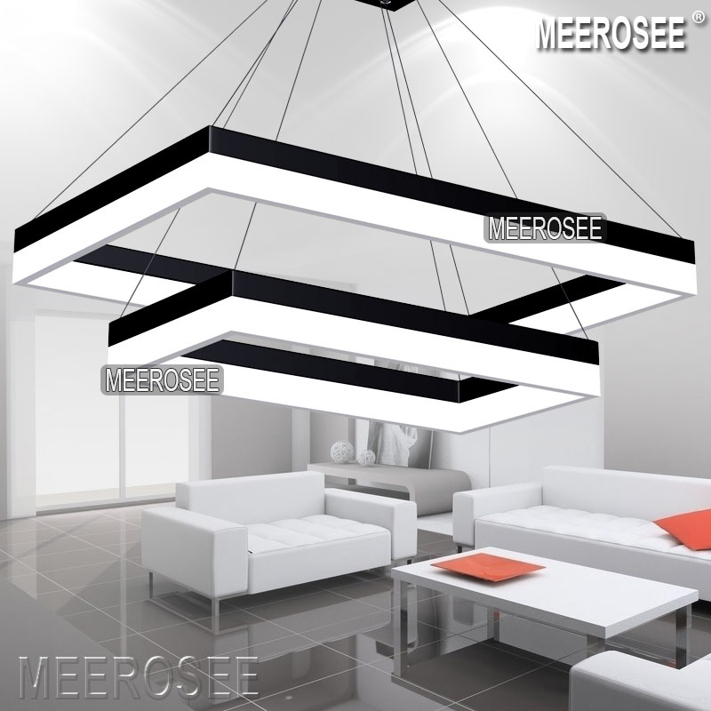 Popular Rectangular Chandeliers Buy Cheap Rectangular: Meerosee Wholesale High Quality LED Pendant Light Modern