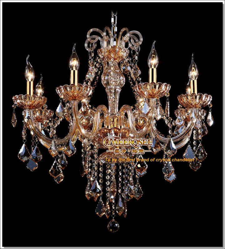 High class k9 crystal chandelier amber glass pendelleuchte light high class k9 crystal chandelier amber glass pendelleuchte light fixtures candle chandelier lustre 8 lamps md6609 aloadofball Images