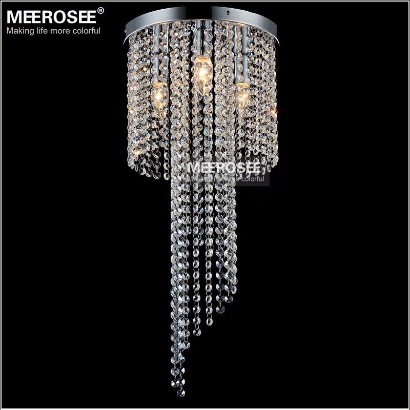 Flush Mounted Crystal Lamp Fixture Vintage Chandelier Re Light Bedroom Aisle Porch Hallway Lighting Md12102